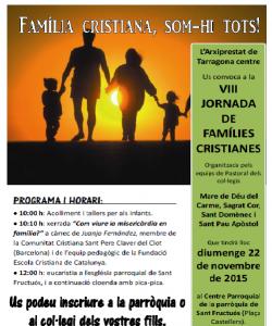 VIII Jornada de famílies cristianes