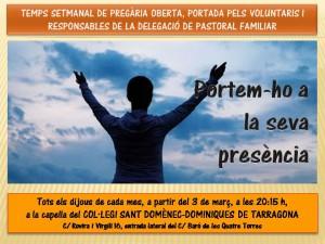 Pregària març dominiques cada dijous 20,15