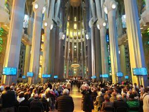 Interior de la Basílica de la Sagrada Famiília